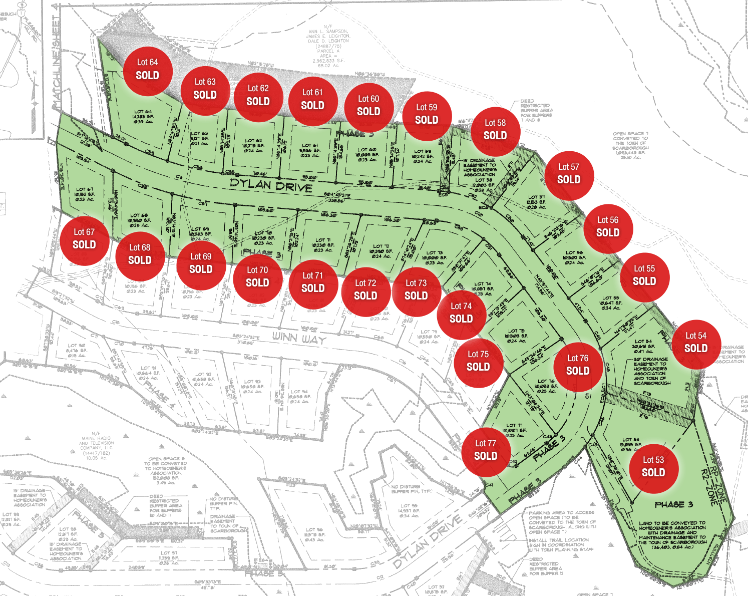 Lot Map - Phase 3